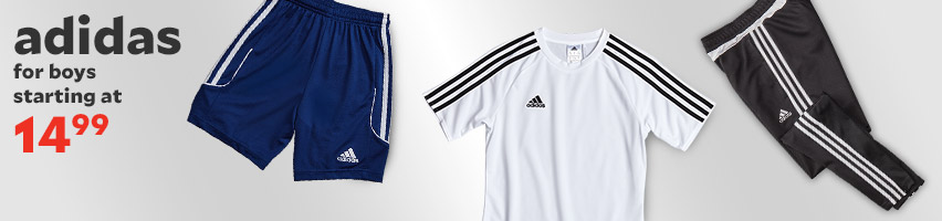 Adidas For Boys Starting At $14.99