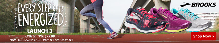 Brooks Every Step Gets Energized Launch 3 Limited Time $79.99 More Colors Available In Men's And Women's
