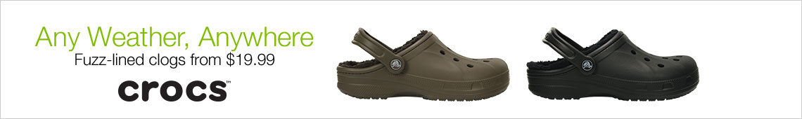 Any Weather Anywhere Fuzz-Lined Clogs From $19.99 Crocs
