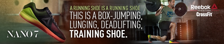 A running shoe is a running shoe. This is a box-jumping, deadlifting training shoe. Reebok Nano 7.