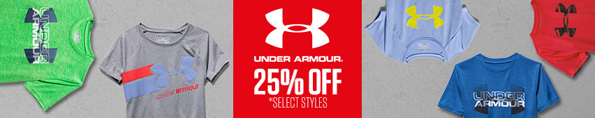 Under Armour 25% Off Select Styles