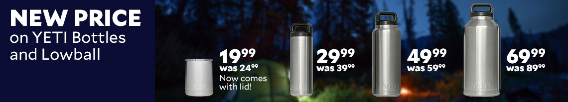 New Price on YETI Bottles & Lowball