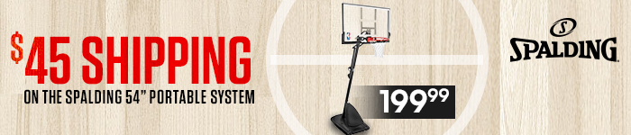 $25 Shipping on Spalding 54 inch System Banner