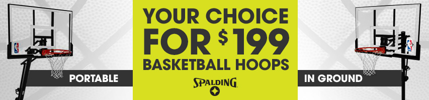 Your choice basketball goals for $199