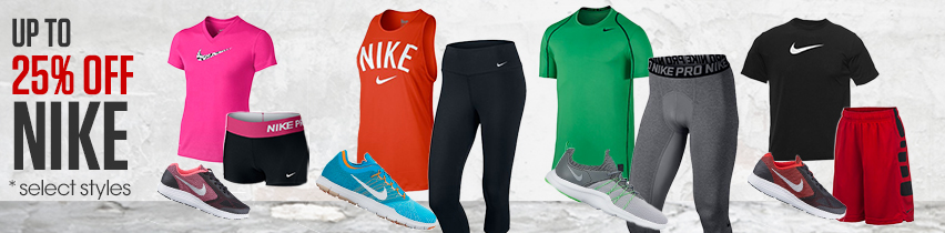 Up To 25 Percent Off Nike Select Styles