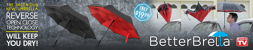 Better Brella The Ingenious New Umbrella Reverse Open And Close Technology Will Keep You Dry!