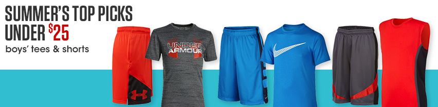 Summer's Top Picks Under $25 Boys' Tees And Shorts