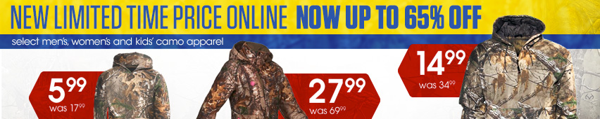 Up to 65% Off Camo Apparel
