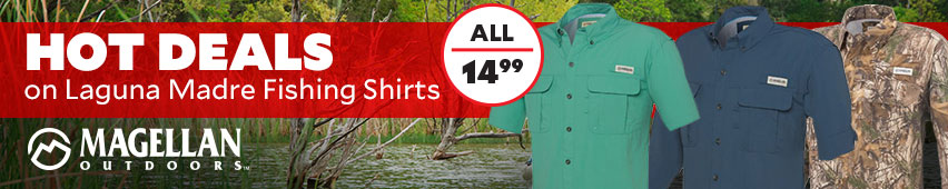 Hot Deals on Magellan Outdoors Laguna Madre Fishing Shirts All $14.99