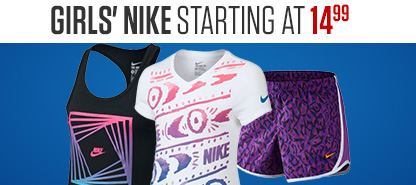 Girls' Nike Starting At $14.99