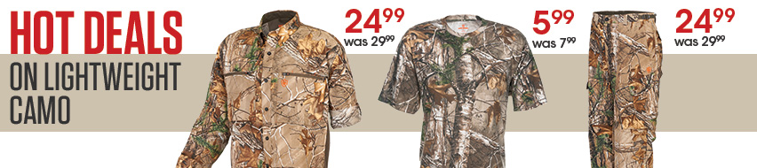 Hot Deals On Lightweight Camo