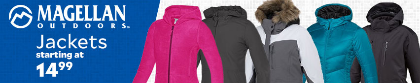 Magellan Outdoors Jackets for starting at $14.99