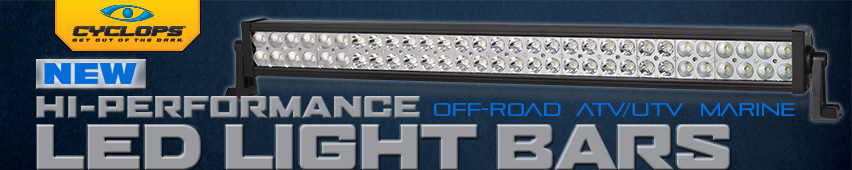 New Hi-Performance Off-Road ATV/UTV Marine LED Light Bars