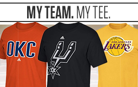 NBA Tees from your favorite teams