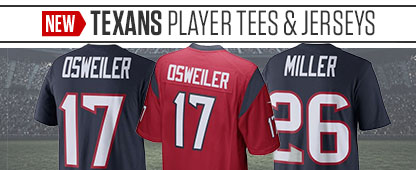 New Texans Player Tees & Jerseys