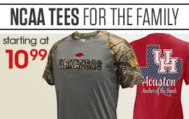 NCAA Tees For The Family Starting At $10.99