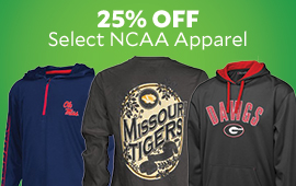 25% Off Select NCAA Apparel