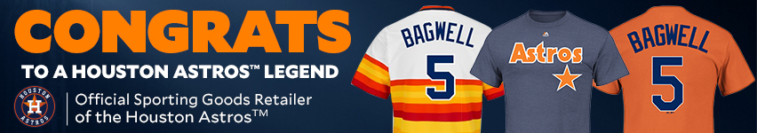 Congrats to a Houston Astros Legend Official Sporting Goods Retailer of the Houston Astros.