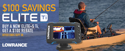 $100 Savings Elite Ti Buy A New Elite Ti Get $100 Rebate Offer Ends September 30th Lowrance