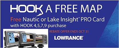 Hook A Free Map Free Nautic Or Insight Pro Card With Hook 4,5,7,9 Offer Ends October 31st Lowrance