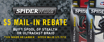 Spiderwire $5 Mail-In Rebate