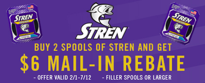 Stren $6 Mail-In Rebate
