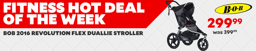 Fitness Hot Deal Of The Week Bob 2016 Revolution Flex Duallie Stroller