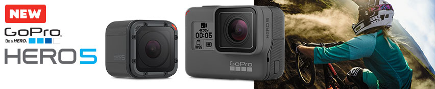 New GoPro Hero 5 Session & Hero 5 Black.