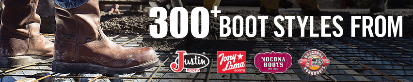 300+ Justin boot styles to choose from