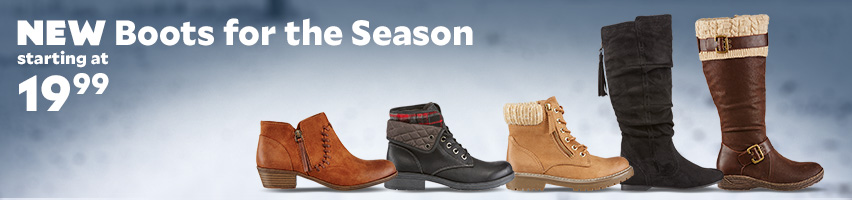 New Boots For The Season Starting at $19.99