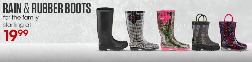Rain & Rubber Boots For The Family Starting At $19.99