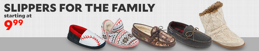 Slippers For The Family Starting At $9.99