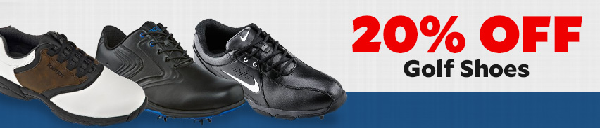 All golf shoes now 20% off