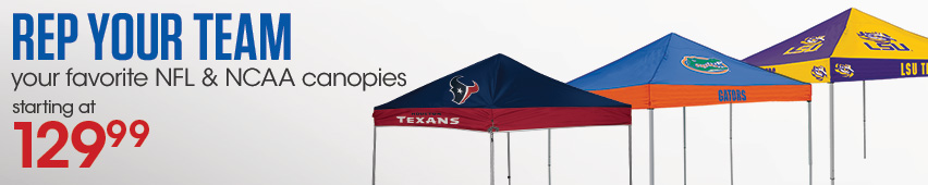 Rep Your Team Your Favorite NFL & NCAA Canopies Starting At $129.99