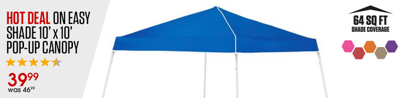 Easy Shade 10 Foot By 10 Foot Pop-Up Canopy $47.99 Ships For $10