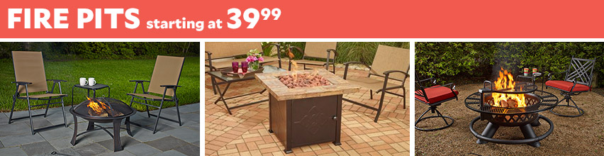 Fire Pits Starting At $39.99
