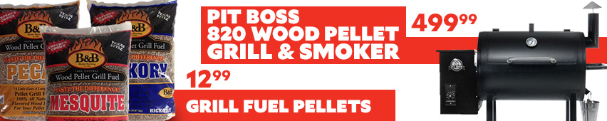 Pit Boss 820 Wood Pellet Grill and Smoker $499.99 Grill Fuel Pellets $12.99