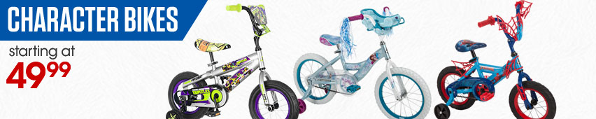 Character Bikes Starting At $49.99