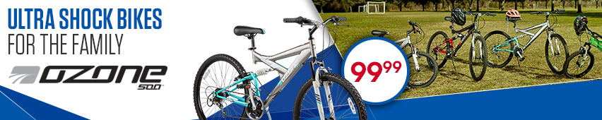Ultra Shock Bikes for the Family - $99.99