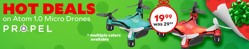 Hot Deals On Atom 1.0 Micro Drones $19.99 Was $29.99