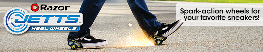 Razor Jetts Heel Wheels Spark Action Wheels For Your Favorite Sneakers
