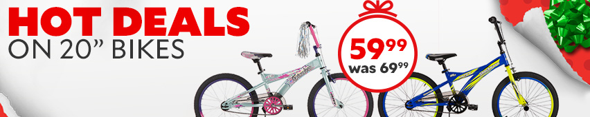 Hot Deals On 20 Inch Bikes $59.99 Was $69.99