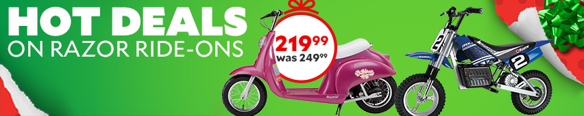 Hot Deals On Razor Ride-Ons $219.99 Was $249.99