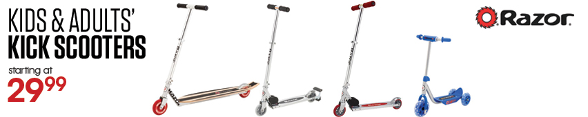Razor Kids And Adults' Kick Scooters Starting At $29.99