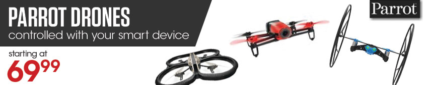 Parrot Drones Controlled By Your Smart Device Starting At $69.99