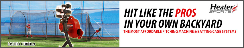 Heater Sports Pitching Machine and Batting Cage Systems