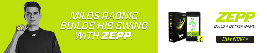 Milos Raonic Builds His Swing With Zepp