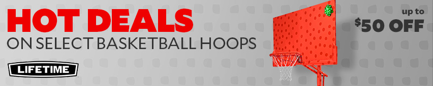 Hot Deals On Select Basketball Hoops Up To $50 Off