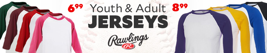 Rawlings Youth And Adult Jerseys $6.99 and $8.99