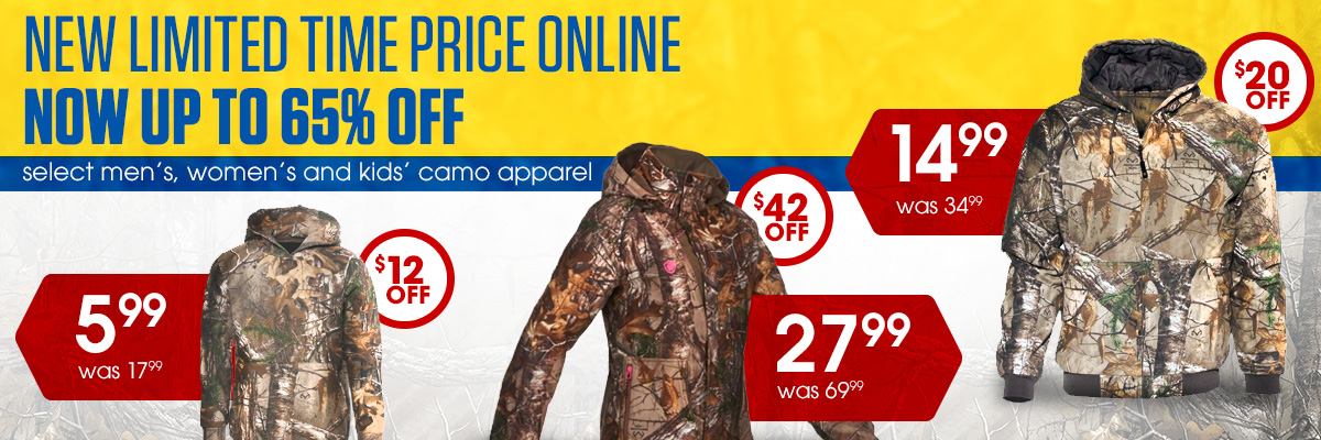 Camo Apparel Now Up To 65% Off